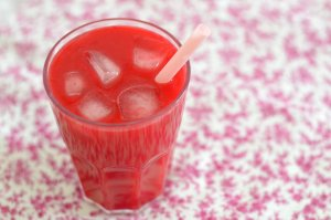 Smoothie Framboises - Pêches
