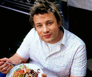 portrait de grand chef cuisinier jamie oliver. Black Bedroom Furniture Sets. Home Design Ideas