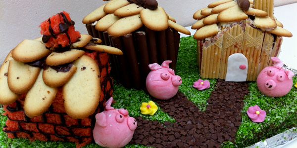 le gâteau des trois petits cochons